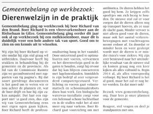 Artikel in het Weekblad