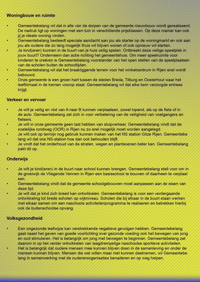 Verkiezingsprogramma 2010-2014 pagina 2