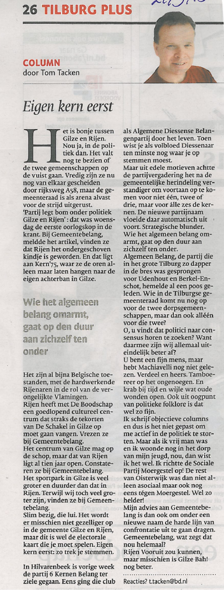 Column Brabants Dagblad